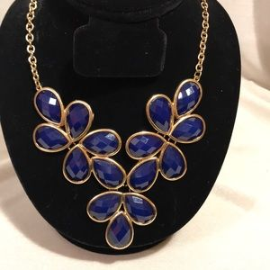Blue and gold Statement necklace